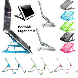 Adjustable Laptop iPad Tablet Stand Folding Portable Mesh Desktop Holder Office