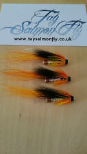 "3x Cascade 1/2"" Copper Tube Salmon Fishing Flies FREE POSTAGE"