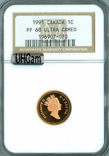 1991 CANADA CENT NGC MAC PR68 RD UHCam ULTRA HEAVY CAM 2ND FINEST SPOTLESS *