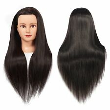 """28"""" Hairdresser Training Head Synthetic Hair Mannequin 100% Real Extensions"""