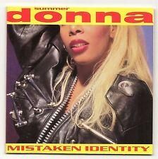 DONNA SUMMER MISTAKEN IDENTITY 1991 USA IMPORT CD ALBUM POSTER & LYRIC INLAY