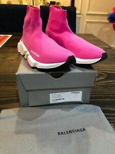 Balenciaga Pink Leather Athletic Shoes