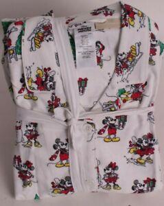 Pottery Barn Teen Mickey Mouse Christmas Holiday flannel pajama set, 2pc Medium