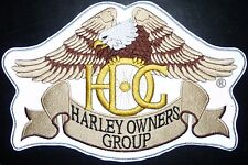LARGE HARLEY DAVIDSON PATCH HOG - HARLEY OWNER GROUP -  NIGHT VISION FOR BIKERS