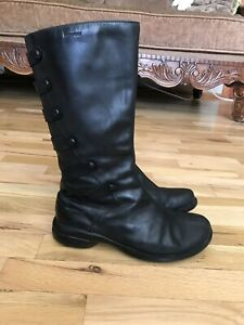 MERRELL Tetra Launch Women's Black Leather Waterproof Tall Boots Size: 7.5