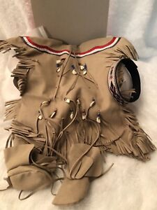 """American Girl Kaya's Deerskin Outfit full set New In Box D8652 for 18"""" Doll New"""