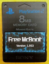 SONY PS2 8MB FMCB Memory Card Free Mcboot 1.953 EMULATORS & CUSTOM INSTALLS