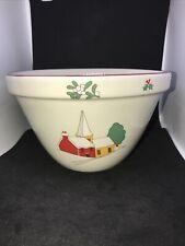 More details for vintage royal caulden yuletide. pudding mixing bowl 1988 christmas art deco