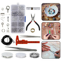 Jewelry Making Kit Wire Silver Sterling Beading Repair Tools Craft Supplies DIY