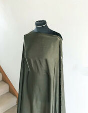 Olive Luxury Velvet Effect Washed Satin Chiffon Dress Fabric (Feels Like Silk)
