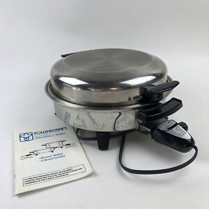 Townecraft Electric Skillet Liquid Core High Dome Roaster Lid Vintage