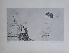 1912 Max Klinger SALOME alter Druck old print