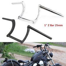 """Motorcycle 1'' & 7/8"""" Handlebars Z Bar Drag Bars For Yamaha Suzuki Honda Harley"""