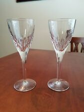 "WATERFORD ABBINGTON CRYSTAL CLARET WINE GLASSES GOBLETS 8 1/4"" SET OF 2 MINT"