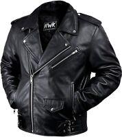 Leather Men Motorcycle Jacket Moto Riding Cafe Racer Vintage Jackets CE Armored