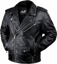 Leather Men Motorcycle Jacket Moto Riding Cafe Racer Vintage Jackets CE Armored