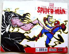 THE SUPERIOR SPIDER-MAN #1 SKETCHED BLANK VARIANT! #300 VENOM VS SPIDEY - MINT!