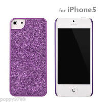 New PopnGo Hard Cover Case Slider slim High Gloss - Purple Sparkle for iPhone 5