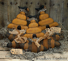 PATTERN Primitive Bee Hive Bee Skeps Ornies & Crow Ornies Doll FREE SHIPPING TBP