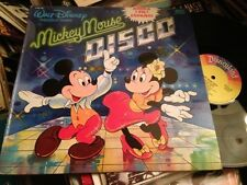"VARIOUS - MICKEY MOUSE DISCO SUNG IN SPANISH 12"" LP SPAIN DISNEYLAND DISNEY"