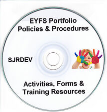 EYFS Pack Portfolio New Early Years Childminder Updated Policies & Templates CD