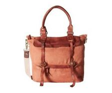 New Bed Stu Cascade Canvas Leather Messenger Weekender Tote Briefcase Bag