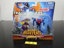 SEALED! TRANSFORMERS BEAST HUNTERS PREDACONS RISING CINDERSAUR & SMOKESCREEN 5-2