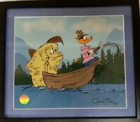 Fish Tale Limited Edition Cel SIGNED #'d  Chuck Jones Daffy Duck Fishing w/ COA