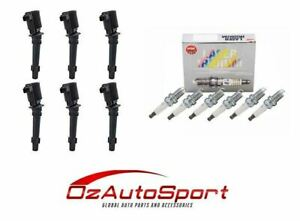 6 x NGK Iridium Spark Plugs & 6 x Ignition Coils for Ford Falcon BF FPV BF