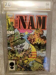 The 'Nam #1 Signed Mike Golden PGX (Not CGC CBCS) 1st Print 1986 Marvel - Rare!