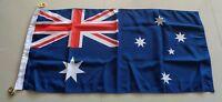 Australia Flag Heavy Duty Woven Spun Polyester Australian Flag Metal Clips