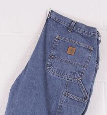 Vintage Carhartt Loose Original Fit Blue Mens Jeans W40 L30