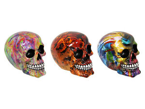 New 1pce 14cm Mystical Skull Resin Ornament Candy Human Head Mancave