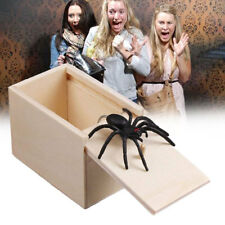 Funny Wooden Prank Spider Box Hidden in Case Trick Play Joke Gag Gifts Toys Us