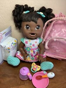 Baby Alive Real Surprises Doll African American English/Spanish W/Accessories