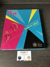 LONDON 2012 OLYMPIC GAMES 50p OFFICIAL SPORTS COLLECTOR ALBUM LIGHTLY USED. MON