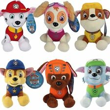 "12CM 4.7"" PAW PATROL COMPLETE SET of 6 Cute Dogs plush Doll Dog Toy Chase Zuma"