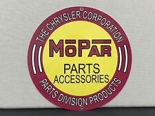 MOPAR logo advertising garage sign baked Chrysler