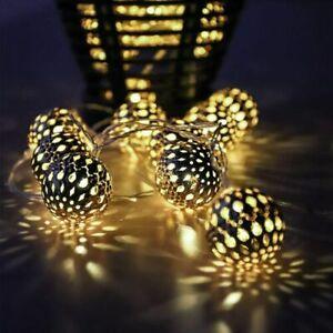 2M Morocco String Lights Retro Ball Outdoor Garden 10 LED Xmas Party Ball Lamp