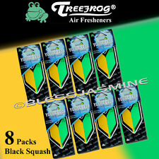 8 Packs Wakaba Japan Treefrog Young Leaf Black Squash Scent JDM Air Freshener