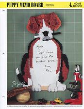 Puppy Memo Board, Annie's plastic canvas pattern