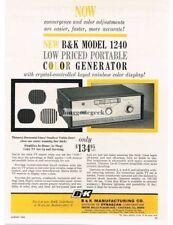 1964 B&K Model 1240 Television Color Generator TV Service Vtg Print Ad