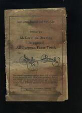 INTERNATIONAL HARVESTER McCormick Deering Farm Truck  Manual