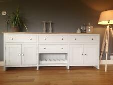 New Solid Pine 7ft Sideboard Dresser Kitchen Unit Cabinet Painted Shabby Chic