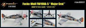 """MERIT 60031 Focke-Wulf Fw190A-5 """"Major Graf"""" Fertigmodell in 1:18 RIESIG!!!"""