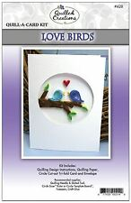 "Quilled Creations ""Quill-A-Card"" Paper Quilling Kit  LOVE BIRDS Wedding  ~428"