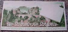 1957 Sächsische Schweiz Sachsen Prospekt Faltblatt *7727