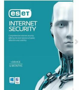"ESET Internet Security 1 Device 1 Year License Card - ""Strictly only to be used"