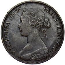 More details for 1865/3 halfpenny victoria vf rare freeman 297