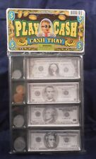 Play Money Cash Tray 16 Coins & 16 Bills Kids Pretend Toy Ages 4+ Party Favor